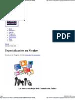 Curso de Especializacion en nuevas tecnologías de la Comunicación Política