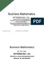 Business Mathematics 13 Sept