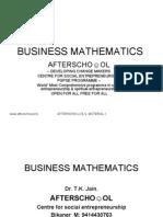 Business Mathematics 3 Sept