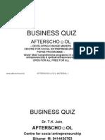 Business Quiz 3 September