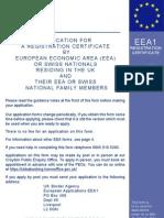 EEA1 (Registration of EEA Citizen)