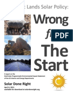 Wrong From the Start--US Public Lands Solar Policy