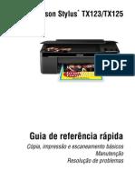EPSON TX123,125 - Guia de referência rápida