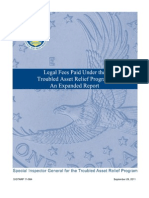 TARP Legal Fees - An Expanded Report Sep 2011