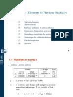 Chapitre 1 -Eléments de Physique Nucléaire