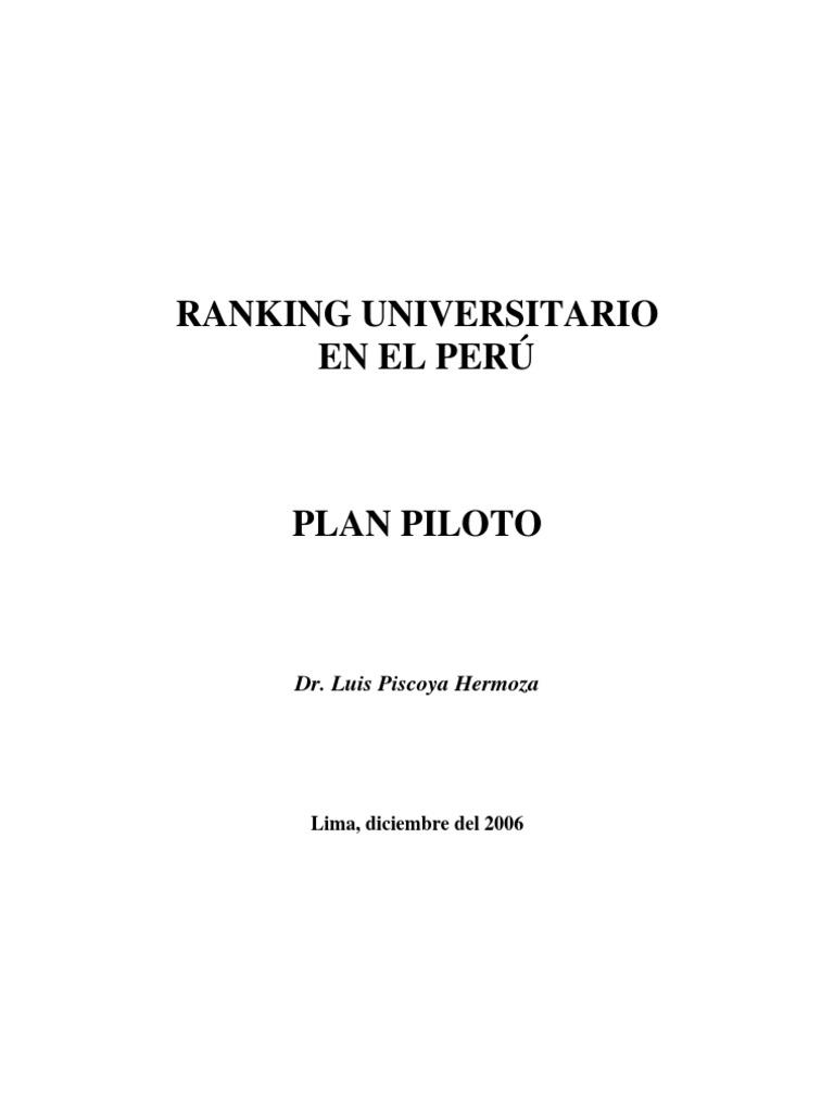 Ranking Universitario en Perú