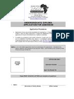 Undergrad Application Forms