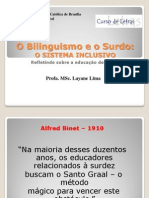 Bilinguismo e o Surdo