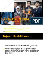 Praktikum FDM - Gyroskop