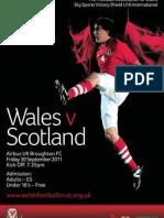 wales v scotland vs poster english  welsh versions