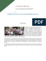 Intenciones de oración de S.S. Benedicto XVI para el 2012 (Comentadas)