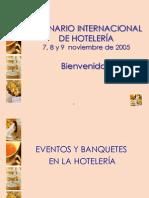 Eventos y banquetes en la Hotelería - María Isabel Gallegos