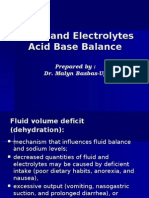 Fluid & Electrolytes and Acid Base Balance