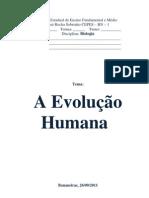 Evolução humana IREMAR