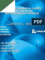 Beneficio en El Uso de Detonadores Electronicos