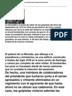 A 38 Anos Del Golpe Emergen en Chile Mas Crimenes de Pinochet