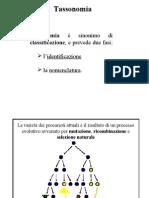Lezione 5. Specie Batterica Variabilità. Tassonomia Numerica