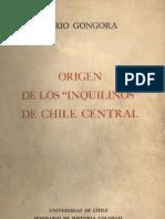 Los Inquilinos en El Chile Central - Mario Góngora