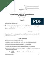 Economics 100B - Spring 2006 - Wood - Midterm 2