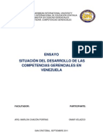 Ensayo Desarrollo de Las Competencias Gerenciales en Vzla Omar Velazco