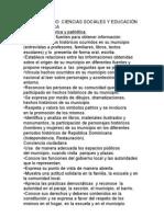 TERCER GRADO  CIENCIAS SOCIALES Y EDUCACIÓN MORAL Y CÍVICA
