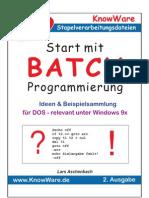 (eBook - Deutsch) Informatik - Knowware - Start Mit Batch-Programierung