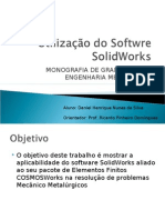 Utilização Do Softwre Solid Works