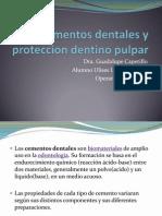 Cementos Dentales y Proteccion Dentino Pulpar