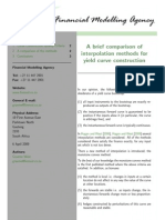 A Brief Comparison of Interpolation Methods in Yield Curve Construction