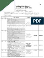 Teaching Plan - CPR FYIF (2007-2008) New