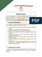 Reglamento Academia Real Venezuela
