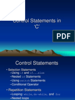 3 Control Statements PPT