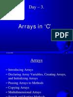 4 Arrays in 'C' PPT