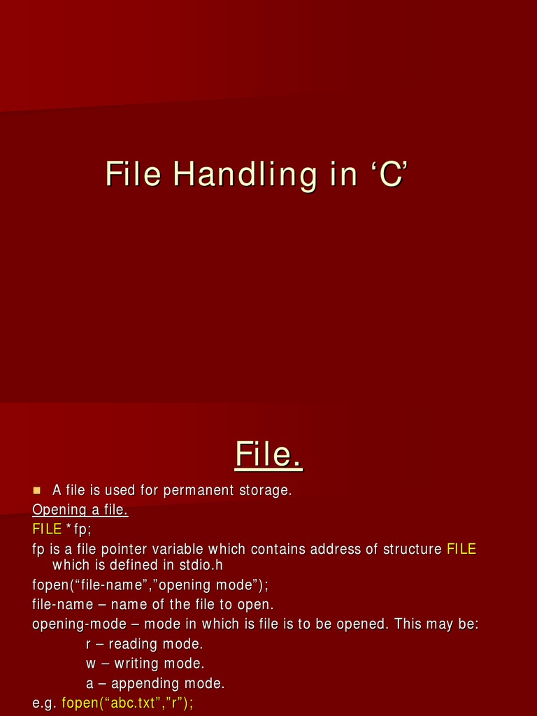 Top Five C Open File Fopen_s - Circus