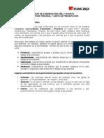 carta de presentación y FODA