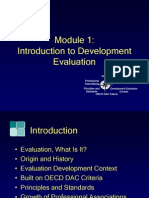 Module1, Introduction to Development Evaluation
