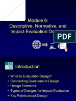 Module6, Descriptive, Normative, And Impact Evaluation Design