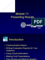 Module11, Presenting Results