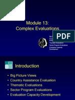 Module13, Complex Evaluation