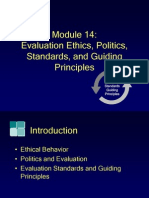 Module14, Evaluation Ethics, Politics, Standards, And Guiding Principles