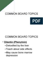 Common Board Topics