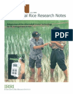 International Rice Research Notes Vol.25 No.1