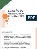 Emissão de Metano