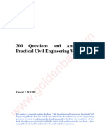 vn 200 Questions & Answers on Practical Civil Engineering Works