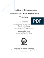 Integration of Heterogeneous Databases Into XML Format With Translator