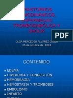 Transtornos hemodinamicos, enfermedad trombolica y shock
