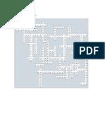 Terminos de Redes en Crucigrama