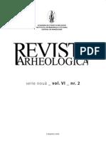 Revista Arheologică, vol. VI, nr. 2, 2010