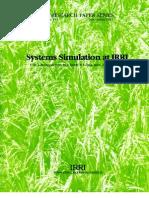 IRPS 151 Systems Simulation at IRRI