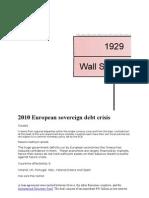 2010 European Sovereign Debt Crisis
